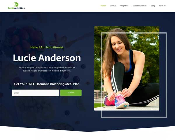 #1 Willpower Nutritionist Business Theme