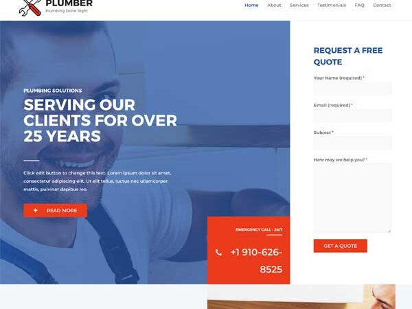 #1 Genius Plumber Business Service Theme