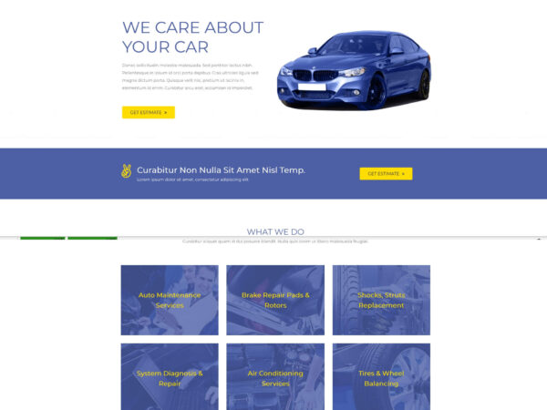 #1 Speedy Car Repair Business Services Theme