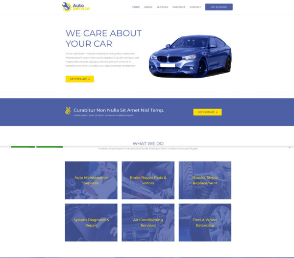 Elementor Astra Pro Car Repair Shop Website