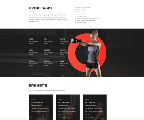 #1 Turbo-Charge Personal Fitness Trainer Business Theme