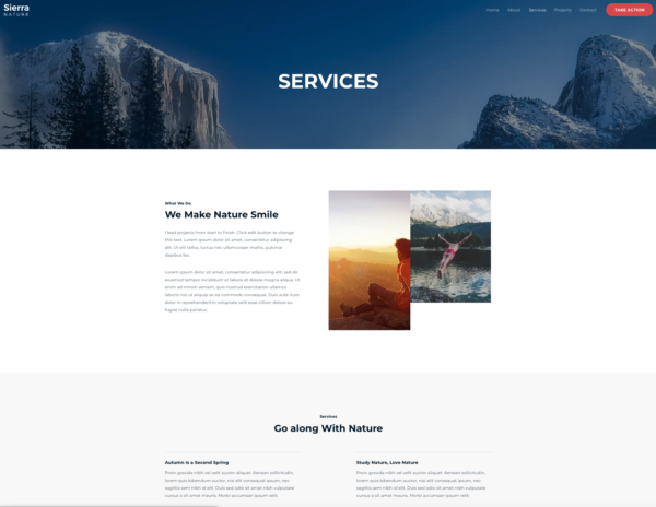 #1 Genuine Sierra Nature Business Theme
