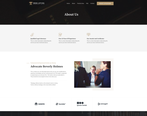 #1 Track Record Prime Lawyers Business Theme