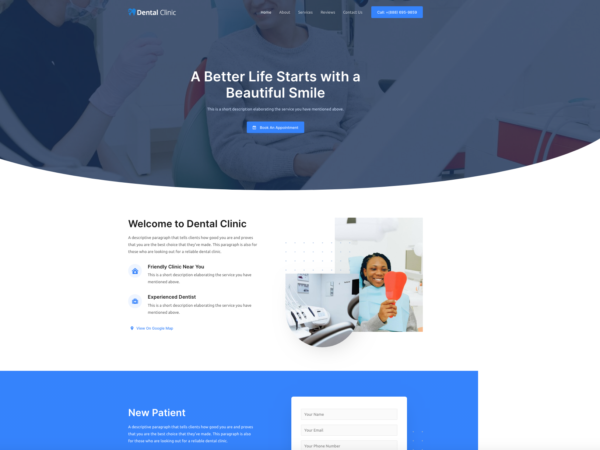 #1 Brilliant Dental Clinic Business Theme