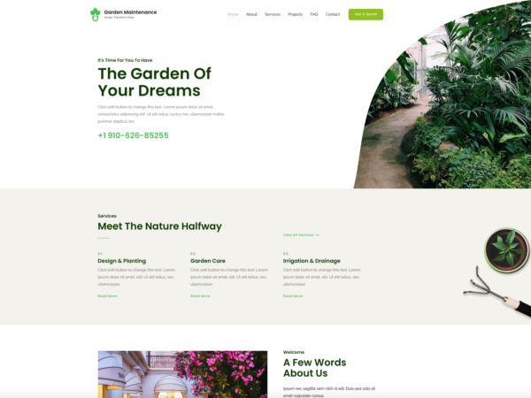 #1 Famous Garden Maintenance Business Services Theme