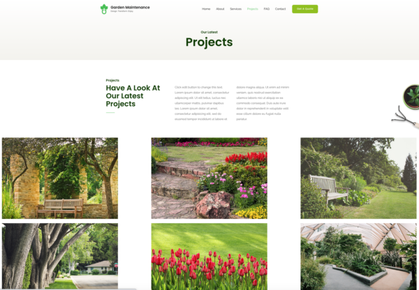 #1 Famous Garden Maintenance Business Services Theme