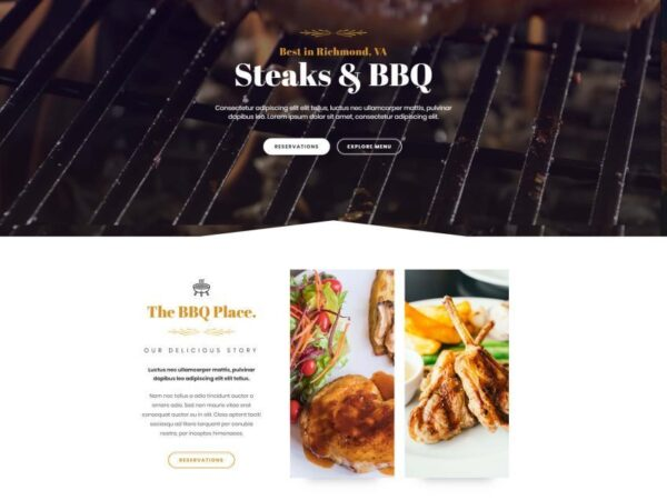 #1 Sizzling Bbq Restaurant Business Theme