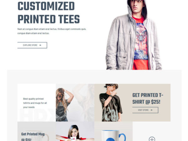 #1 Professional Custom Printing Pro Advanced eCommerce Theme