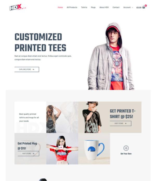 #1 Professional Custom Printing Pro Advanced eCommerce Theme