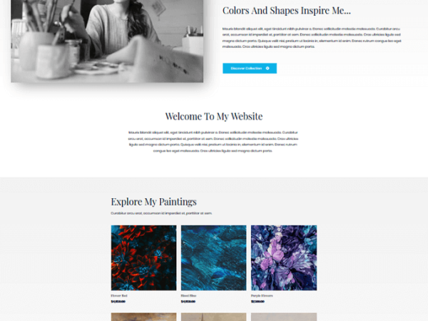 #1 Skilled Freelance Artist Business Theme