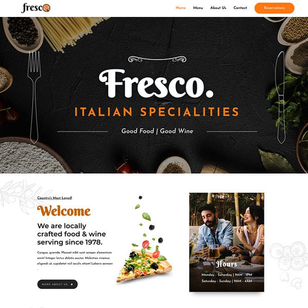#1 Mouth-Watering Italian Restaurant Business Theme