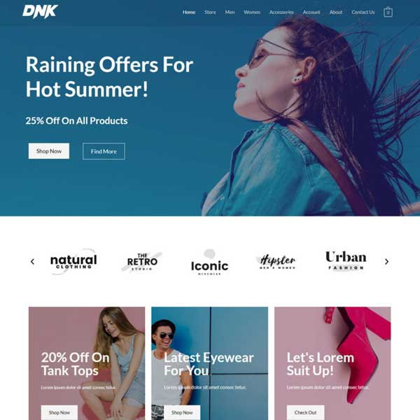 eCommerce Custom WordPress WooCommerce Website
