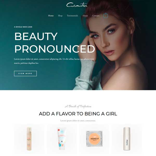 Cosmetics Store eCommerce WordPress WooCommerce Custom Website