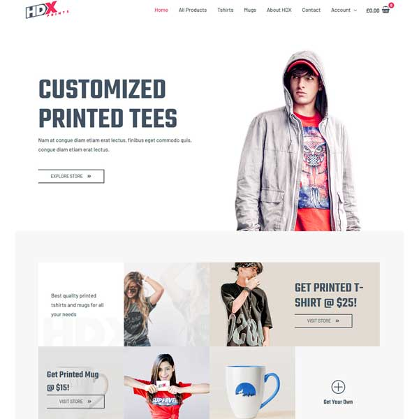 Custom Printing Pro eCommerce WordPress WooCommerce Custom Website