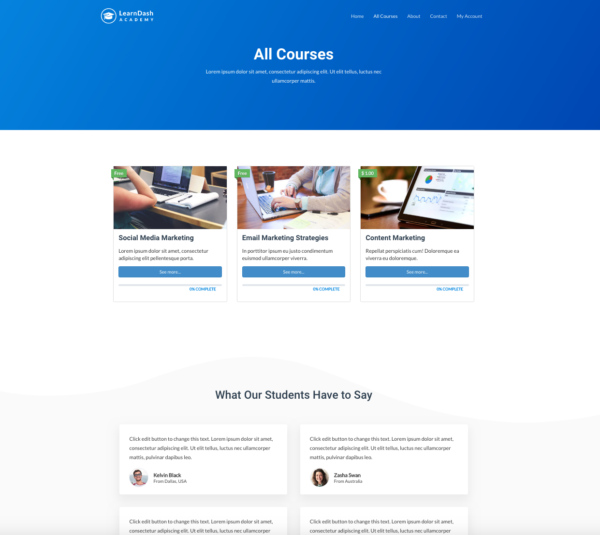 #1 LearnDash Academy Certified Experts Business Theme
