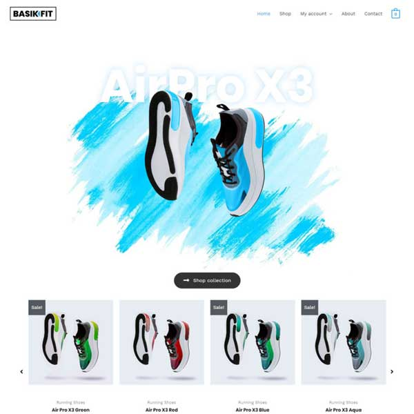 Shoe Store eCommerce WordPress WooCommerce Custom Website