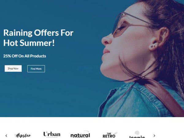 Dazzling Adaptable Brandstore All-inclusive eCommerce Theme