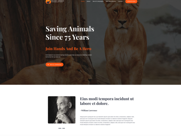#1 Saving Animal Welfare Brilliant Business Theme