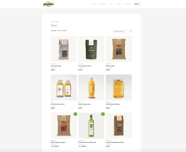 Amazing Organic Store Unbelievable eCommerce Theme