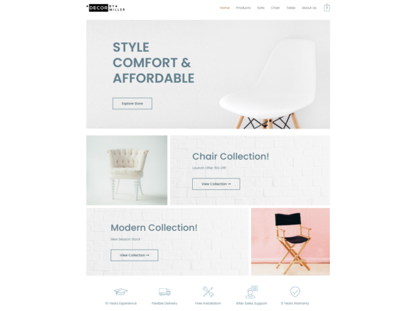 #1 Luxury Furniture Store eCommerce Theme
