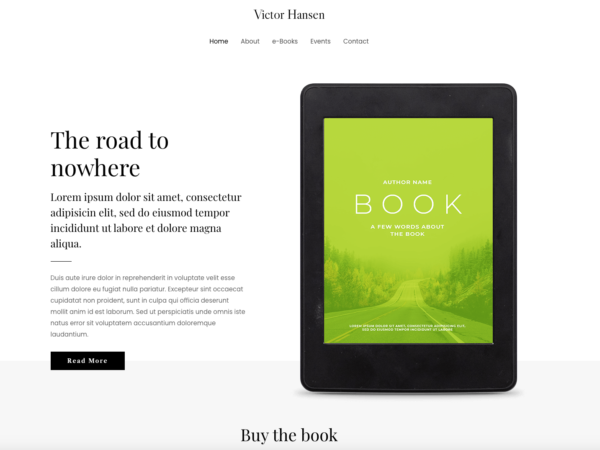 #1 Comprehensive E Book Author Pro Business Theme