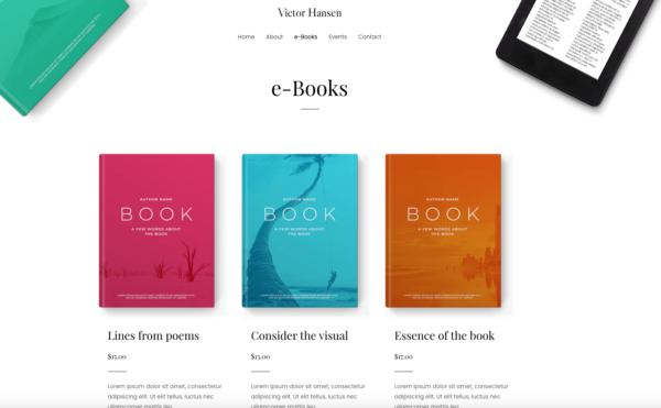 #1 Comprehensive E Book Author Pro Business Theme