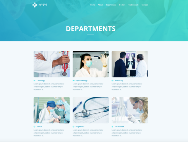 #1 Pioneering Multimed Clinic Business Theme