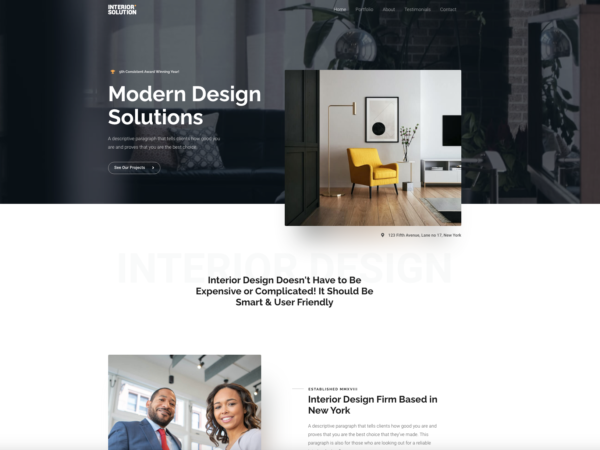 #1 Luxurious Interior Design Firm Business Theme