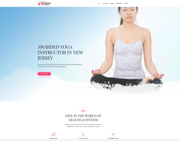 #1 Zen Yoga Instructor Pro Business Theme