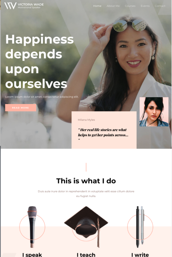 #1 Blessed Inspirational Speaker Business Services Theme