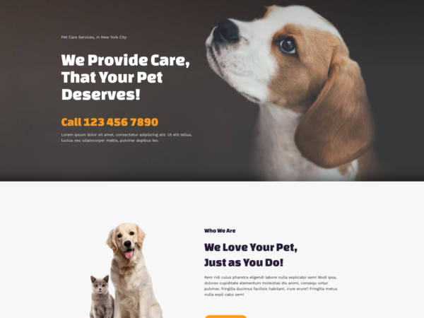 #1 Inspirational Pet Services Theme