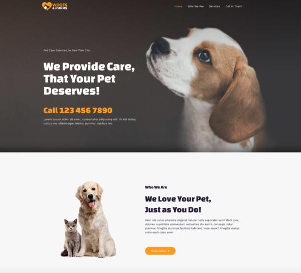 #1 Inspirational Pet Services Theme