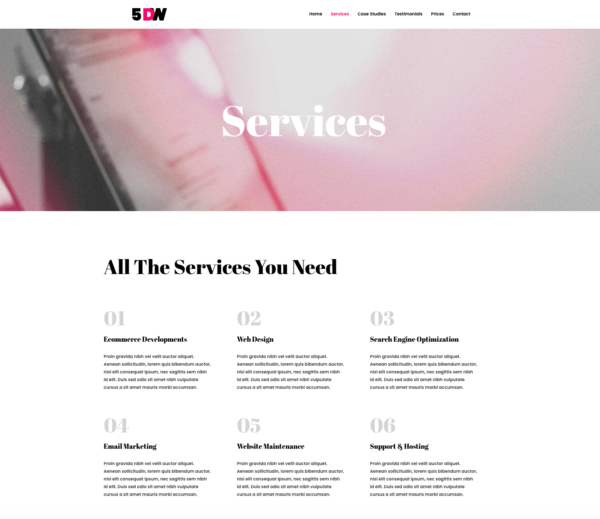 #1 Inspirational Five Days Website Business Theme