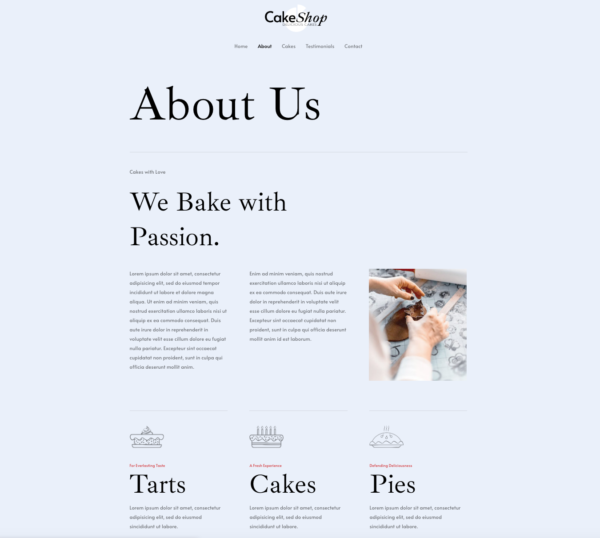 #1 Incredible Cake Shop Business Theme