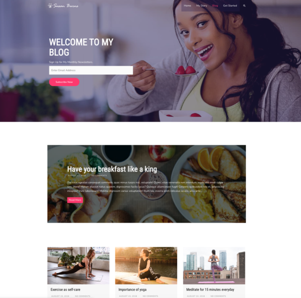 #1 Best-Selling Health Coach Business Theme