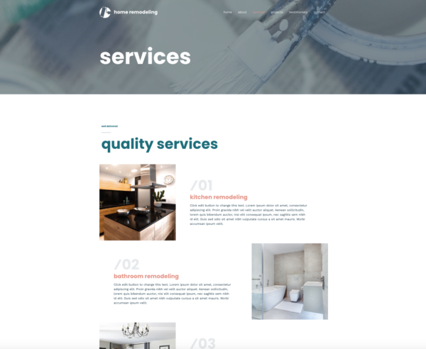 #1 Vibrant Home Remodeling Business Theme