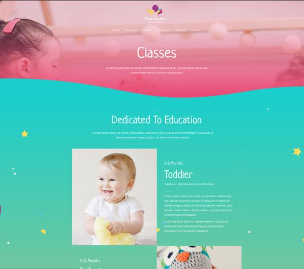 #1 All Inclusive Kindergarten School Business Services Theme