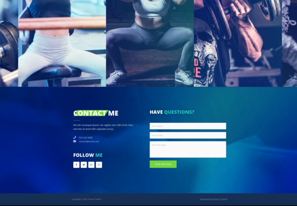 #1 In the Zone Fitness Trainer Business Theme