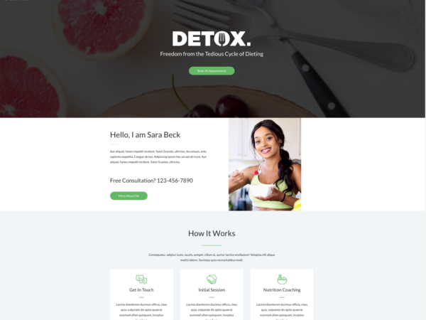 #1 Inspiring Personal Dietitian Business Theme