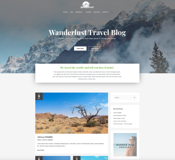 #1 Glorious Wanderlust Travel Diary Hotel Theme