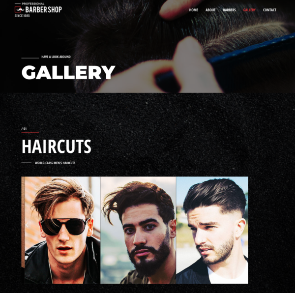 #1 Exquisite Barber Shop Business Theme