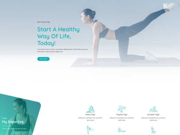 #1 Beautiful Yoga Studio Business Theme