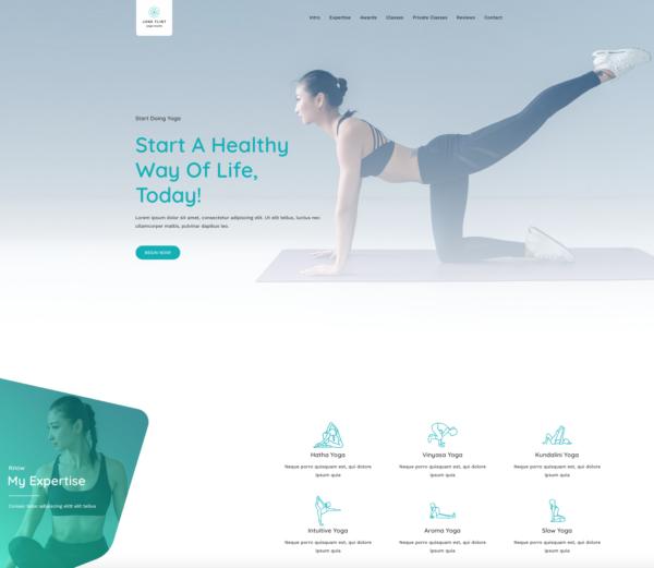 #1 Beautiful Yoga Studio Business Theme