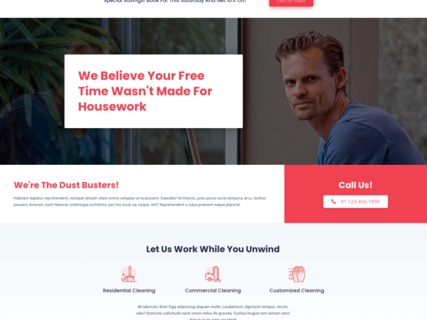 #1 Outstanding Cleaning Services Business Theme