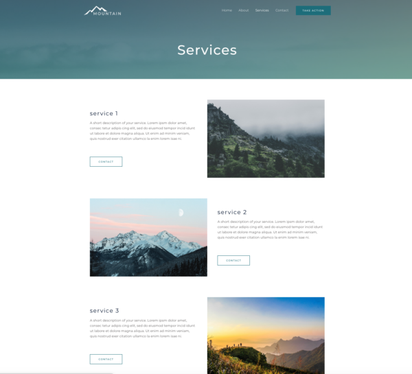 #1 Captivating Mountain Natural Business Theme