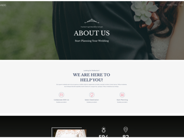 #1 Devoted Wedding Planner Business Theme