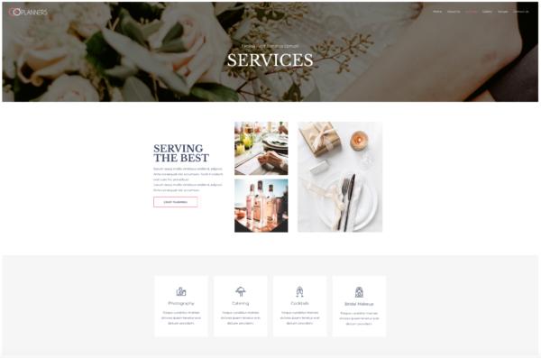 #1 Devoted Wedding Planner Business Theme
