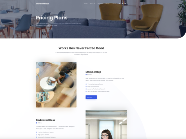 #1 Life-Changing Co-Working Place Business Theme