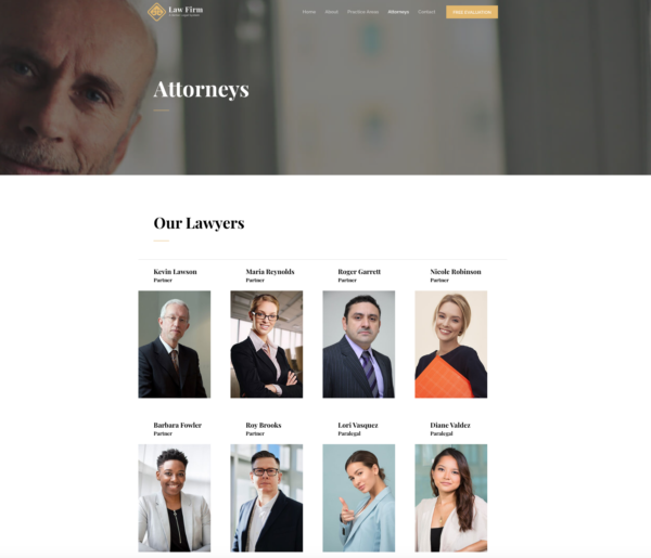 #1 Comprehensive Law Firm Business Theme