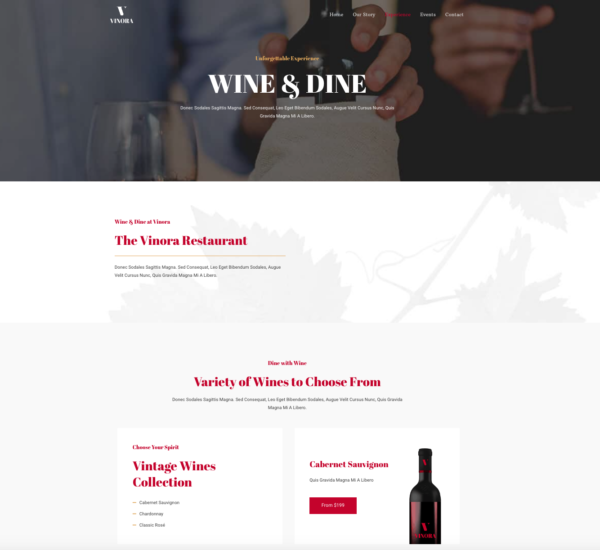 #1 Colorful Winery Business Theme